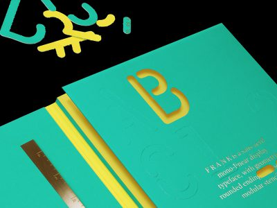 Tipografía F R A N K, Bunch, Alberto Hernández y Milieu Grotesque, 2015.