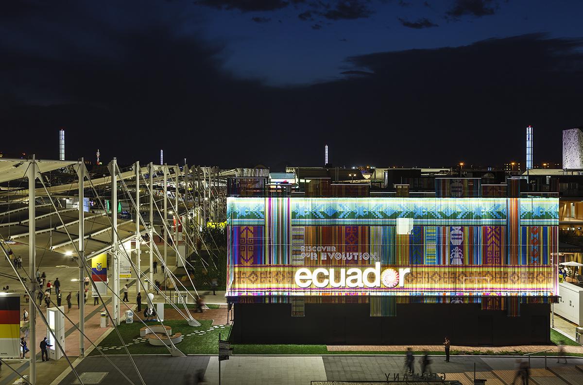 Cortinas de KriskaDECOR, Exposición Universal de Milán 2015. Fotografía ©Marcela Grassi