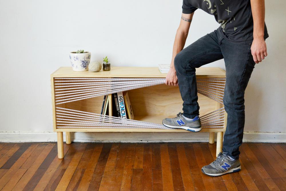 Rack Cuerda, el mueble con puertas de cuerda