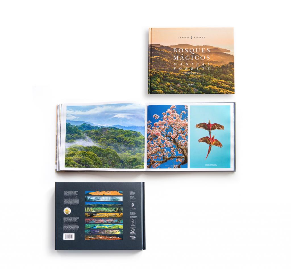 Cubierta y diseño del libro Bosques Mágicos. © Fundación Árboles Mágicos.