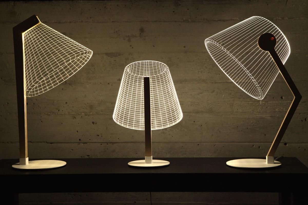 Lámparas con efecto 3D, de Studio Cheha
