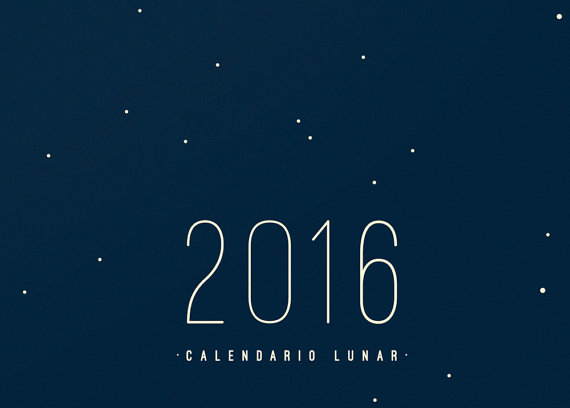 Calendario Lunar 2016, FLOU FLOU Disoñadores Asociados, 2015.