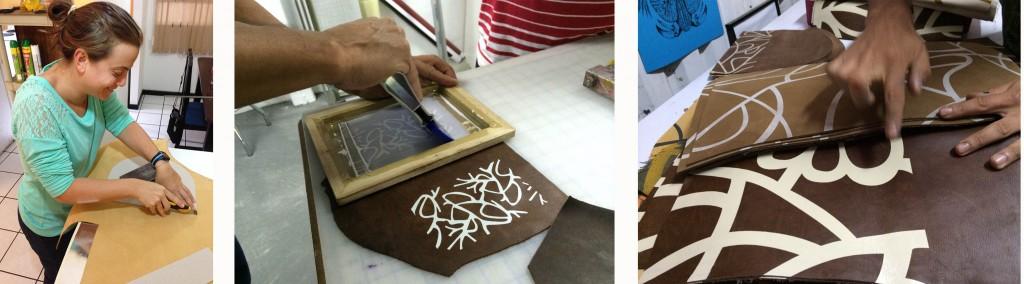 Revisión de patrones y detalles de la confección. Foto cortesía de la diseñadora.