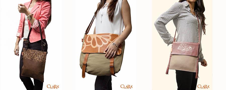 Bolsos de Clara Concept. Foto cortesía de la diseñadora.