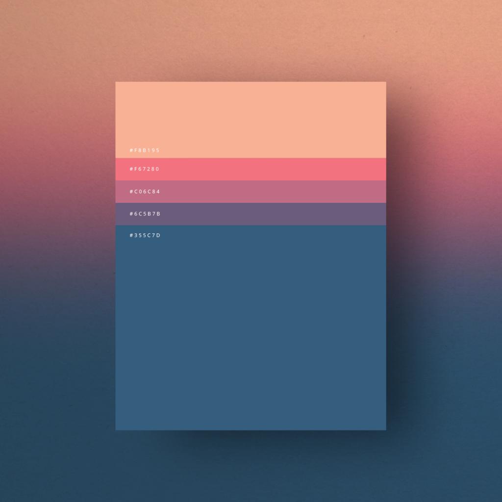 Minimalist Color Palettes 2015, los carteles minimalistas de Dumma Branding Agency