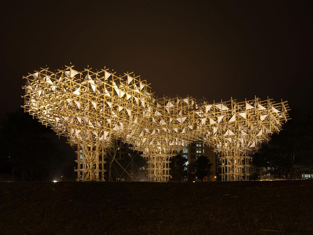 Treeplets, el imponente pabellón de bambú de Impromptu Projects
