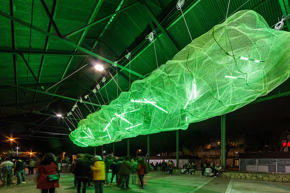 La Nube, intervención colaborativa en Montevideo