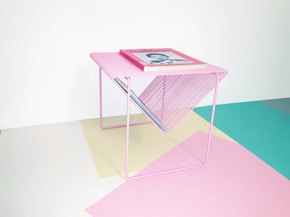 Mobiliario de Camilla Ödmo para BordBord. Acero y color