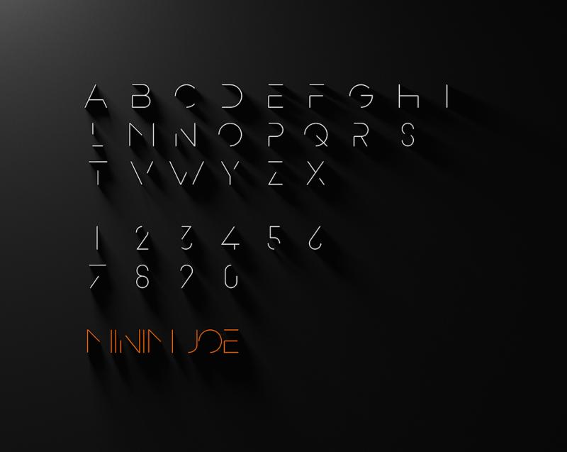 Tipografía Minim Joe, Ion Lucin, 2016