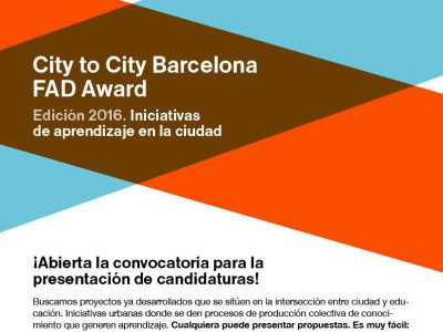 City to city Barcelona FAD Award, 2016.