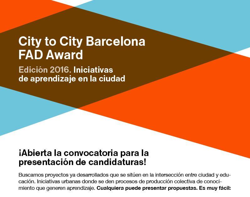 City to city Barcelona FAD Award, 2016.