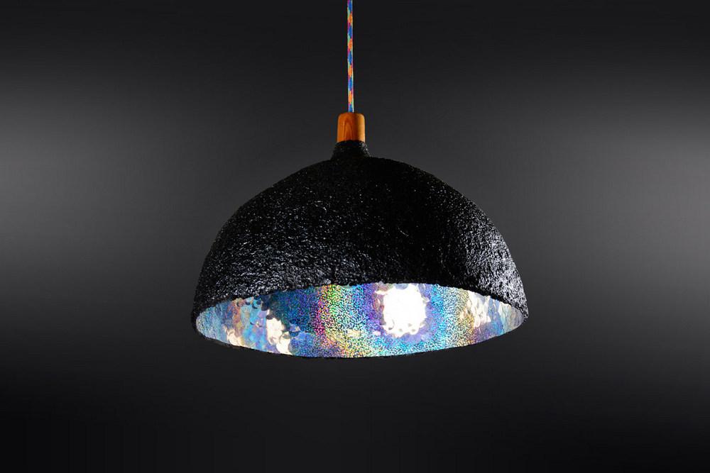 Colección de lámparas 2016 realizadas con materiales reciclados, Estudio 2724, Argentina.