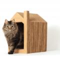 Nekohomu, la casa para gatos de cartón de Ana Hospitaler