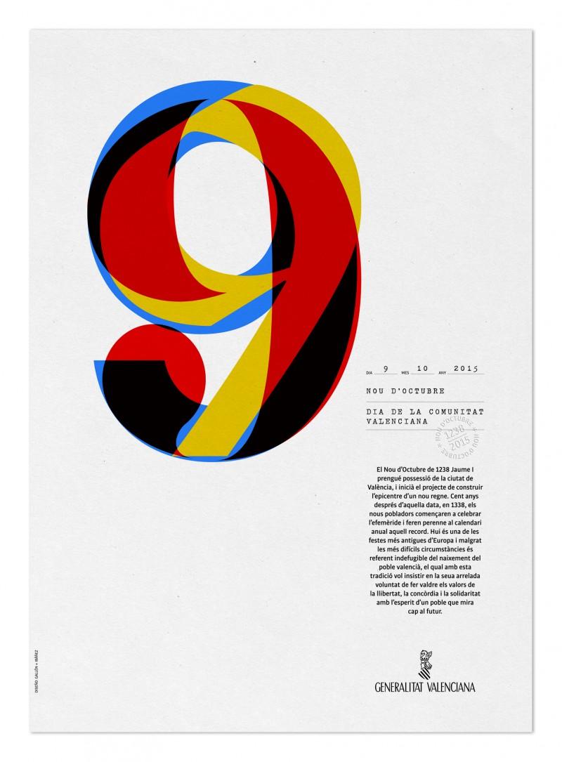 Cartel 9 d´Octubre, Marisa Gallén, 2015