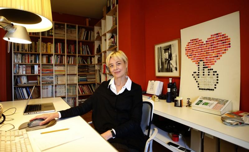 Marisa Gallén en su Estudio, Valencia, Fotografía de Jose Jordan
