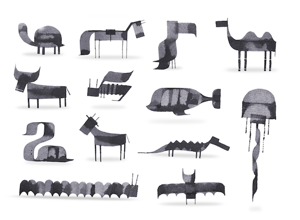 Animales caligráficos de Andrew Fox