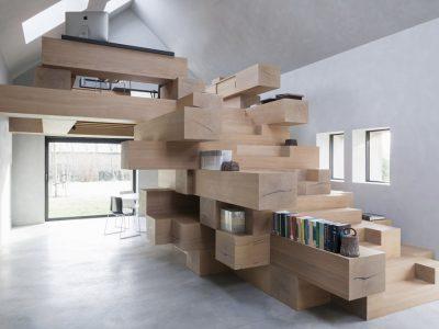 Reconversión de un establo en oficina en West Flanders, de Studio Farris Architects, 2016
