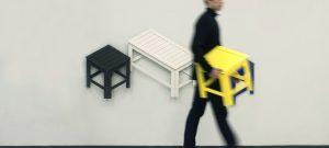 De–dimensión, colección de sillas plegables de Jongha Choi
