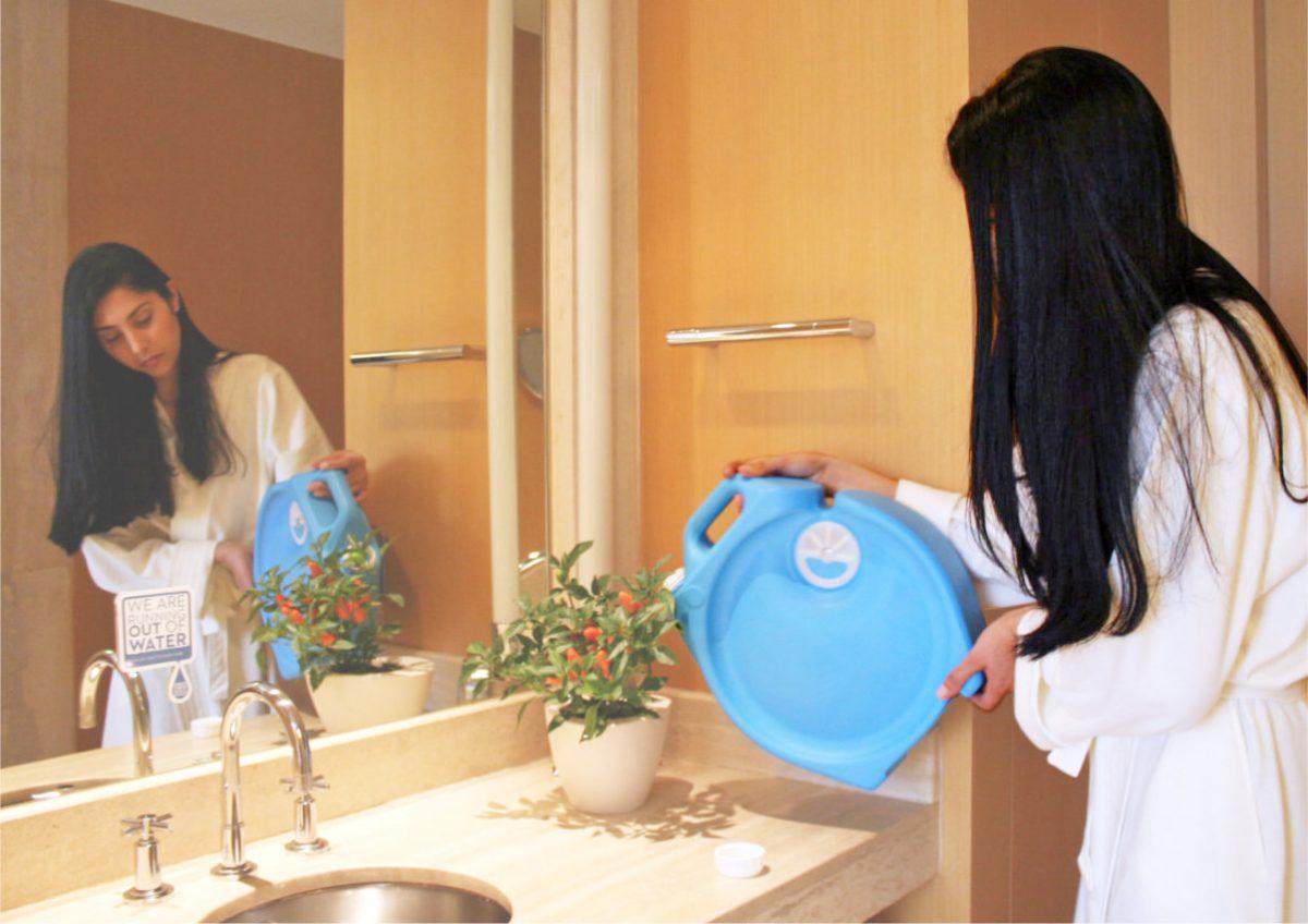 Aguawell, el recipiente que hace fácil el ahorro de agua