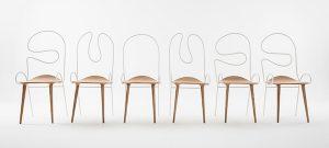 Chair Sylph, de Atelier Deshaus. Una propuesta de acero y madera