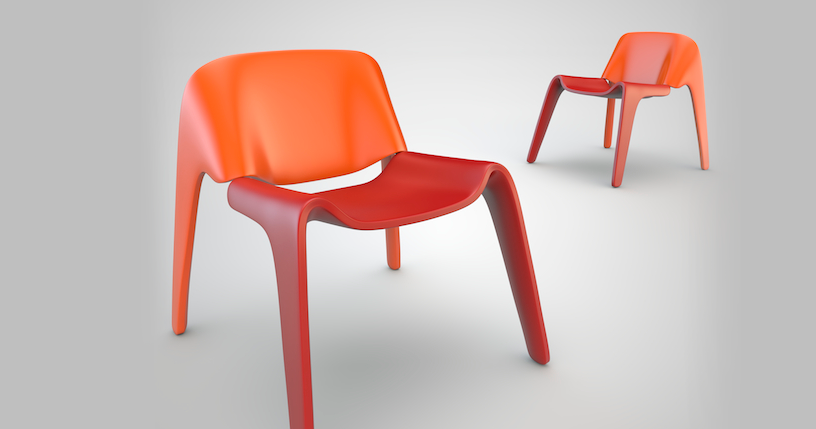 Duo/Dio, la silla de dos piezas de Federico Varone