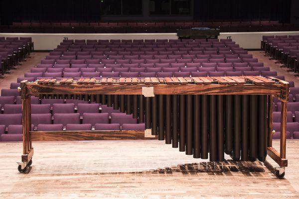 Marimba de concierto Biolley. Sala de conciertos de la Universidad de Minnesota, fotografía por Nick Meza.