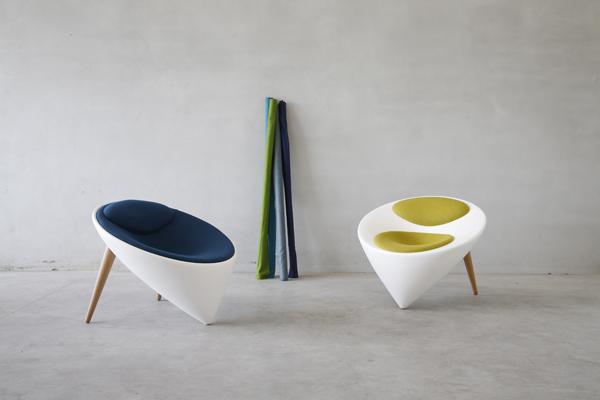 Los muebles esculturales de Marie Cuvillier y David Lageyre para Chadko