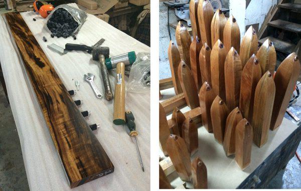 Detalles del proceso de fabricación. Foto cortesía Oscar Biolley Quesada.