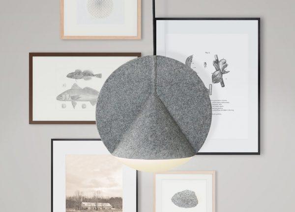 El equilibrio geométrico de Stamp. Lámpara de Outofstock para Bolia