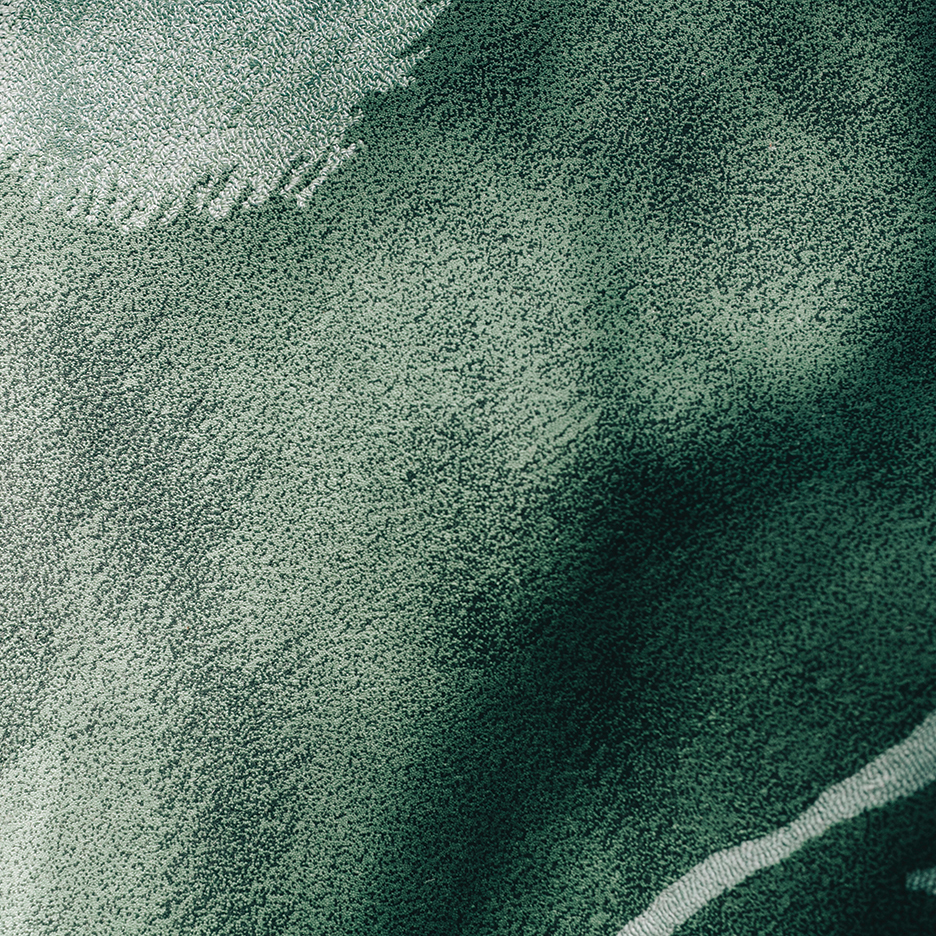 Detalle de una de las alfombras, The Tropicals, The Rug Makers and Outofstock, 2016.