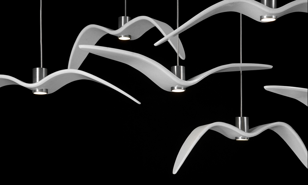 Lámpara Night Birds, las aves de Boris Klimek