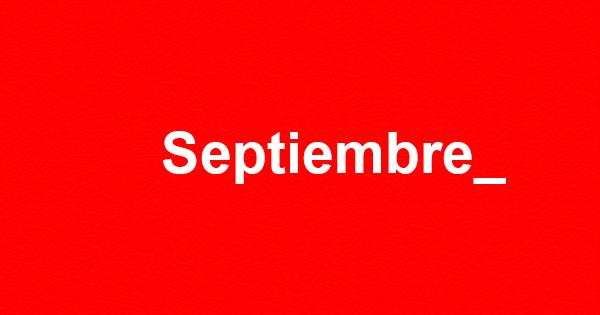 Agenda de septiembre, el diseño vuelve renovado