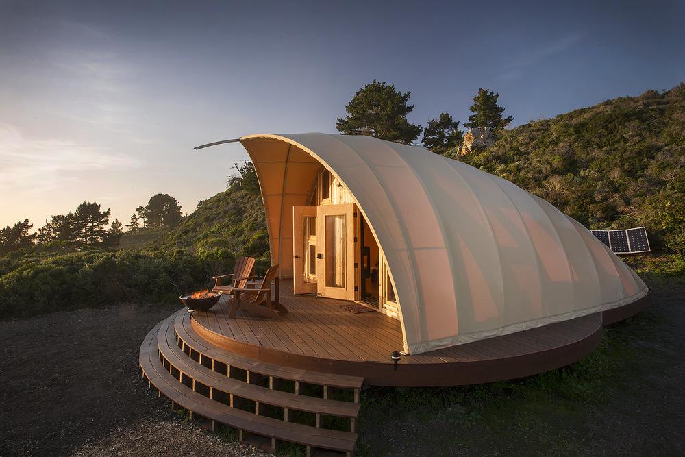 Autonomous Tent,  tienda de campaña de estructura permanente de Phil Parr y Harry Gesner