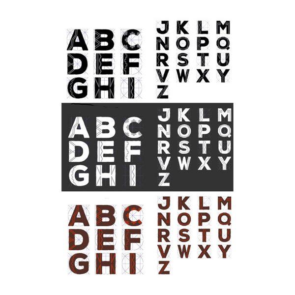 Bocetos y la propuesta tipográfica de Cristiana Castellón. Foto cortesía de la diseñadora.