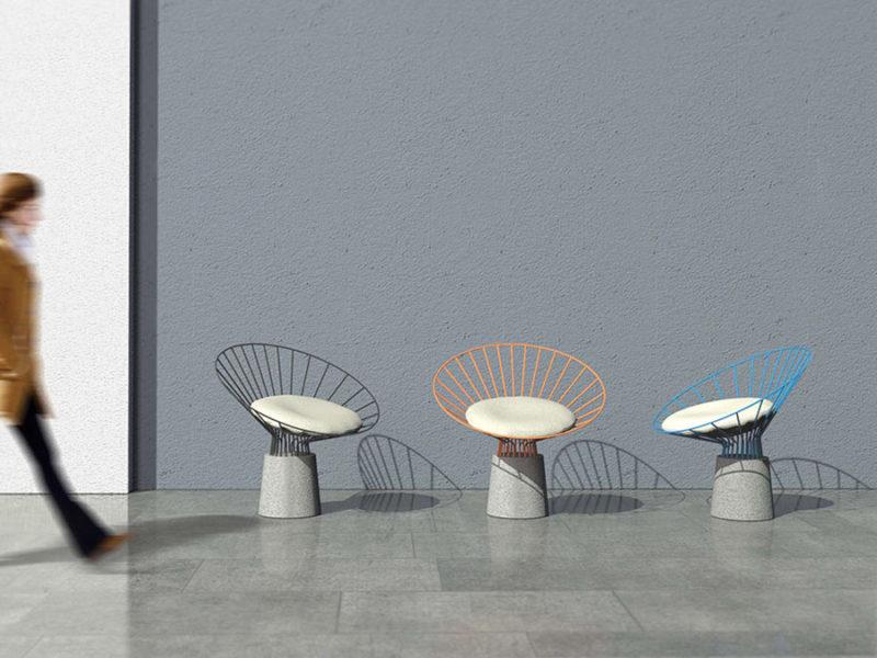 Reo Chair, la silla de acero y hormigón de Fifth Column