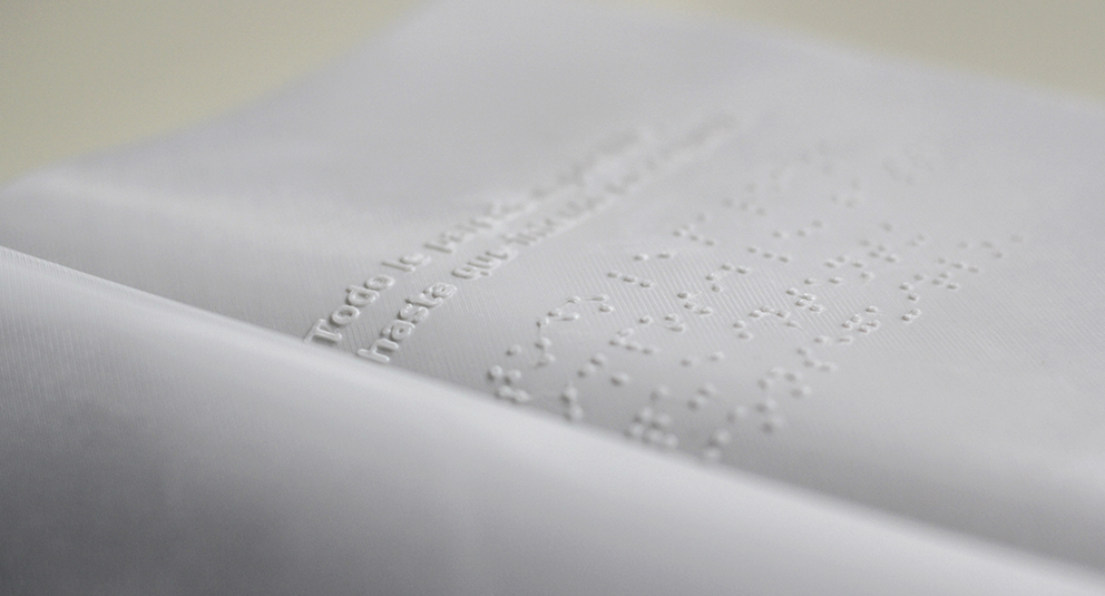 Silencio, poesías ilustradas para invidentes con tecnología 3D