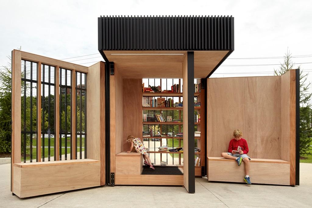 Story Pod, la biblioteca pop-up de Atelier Kastelic Buffey