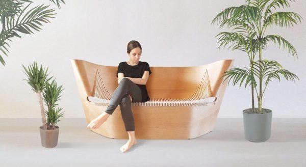 Wing sofa, Ákos Huber, 2016