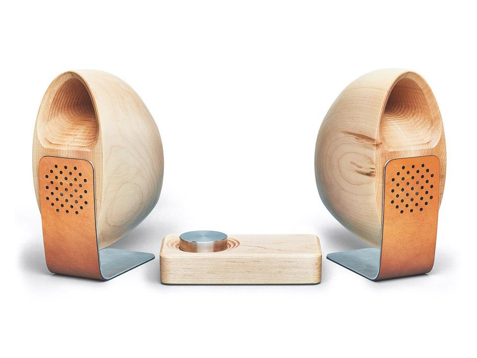 Wood Speaker, sistema de audio de madera de Grovemade