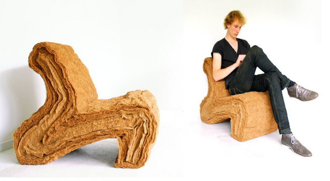 Layer Chair, la silla biodegradable de Jorrit Taekema