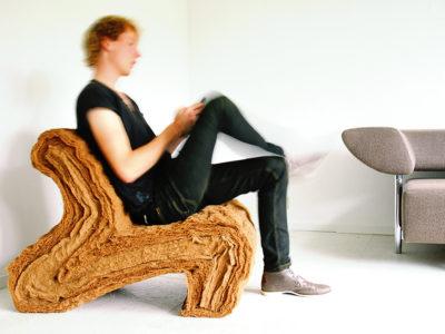 Layer Chair, la silla biodegradable de Jorrit Taekema. Fibra de coco y látex