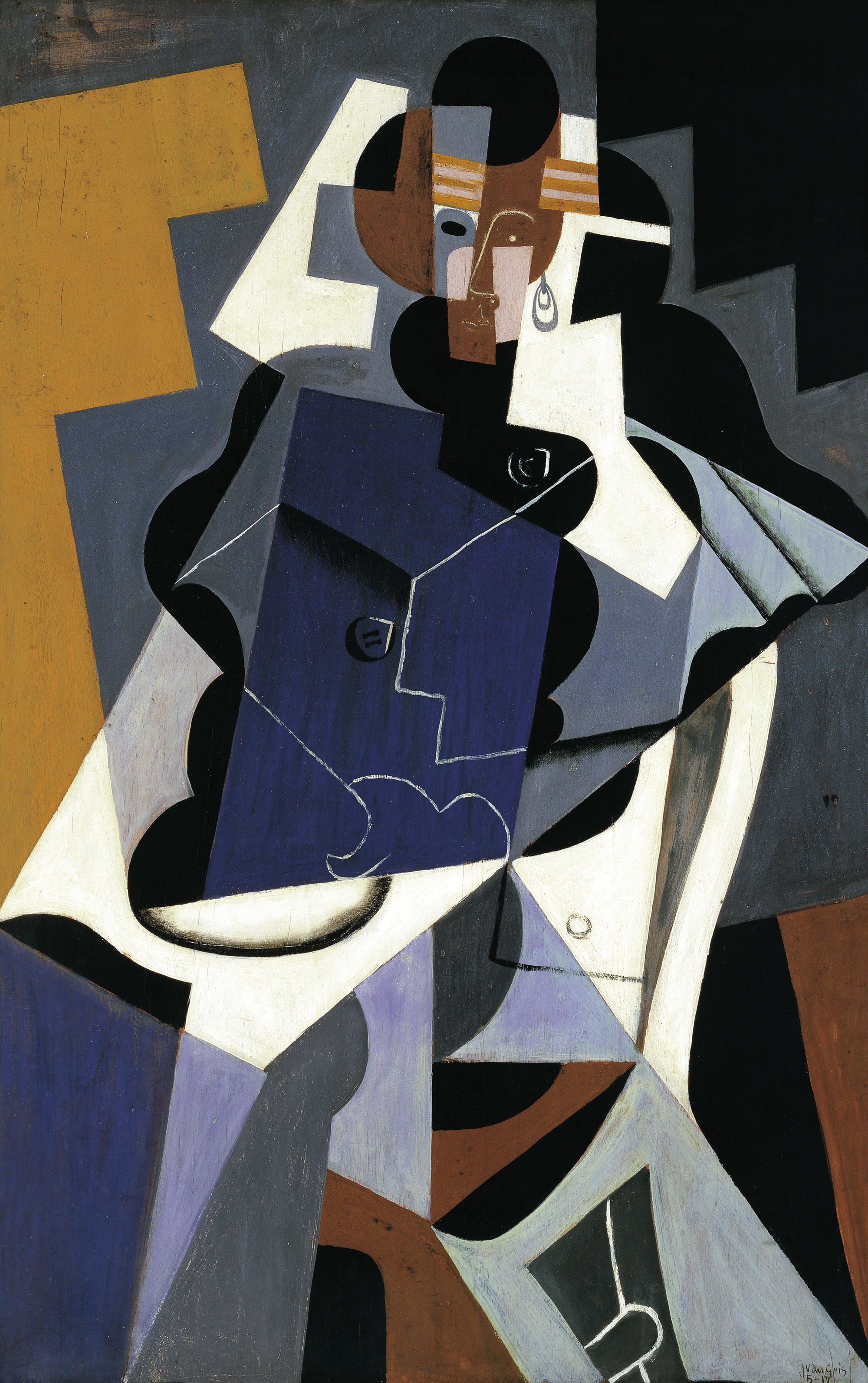 Mujer sentada, Juan Gris, 1927.