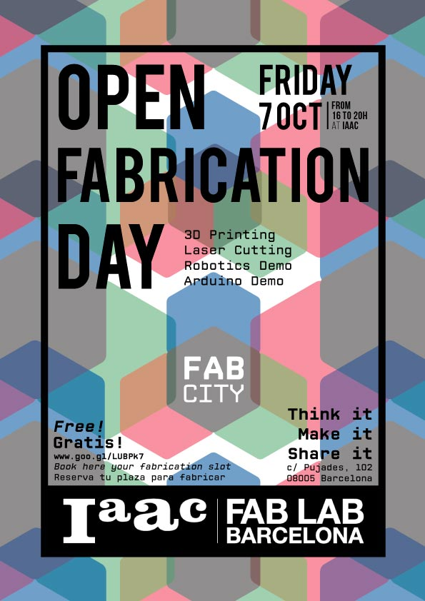 Open Fabrication Day, Fab Lab Barcelona, 2016.