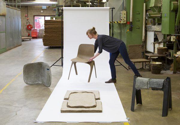 Flax Chair de Christien Meindertsma triunfa en la Dutch Design Week