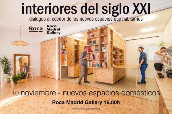 """'Claves del nuevo espacio doméstico', la primera sesión del ciclo de conferencias: """"Interiores del Siglo XXI"""" en Roca Madrid Gallery, 2016"""
