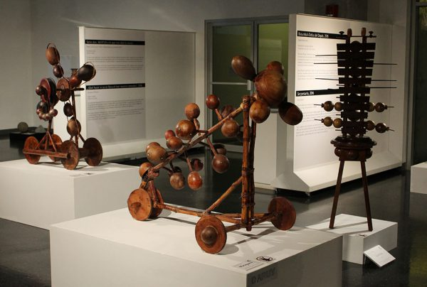 """Otto Apuy Sirias. """"Jicarimba"""", """"Molinete"""", """"Maraquera"""" y """"Zigzag. Foto cortesía del Museo del Jade."""