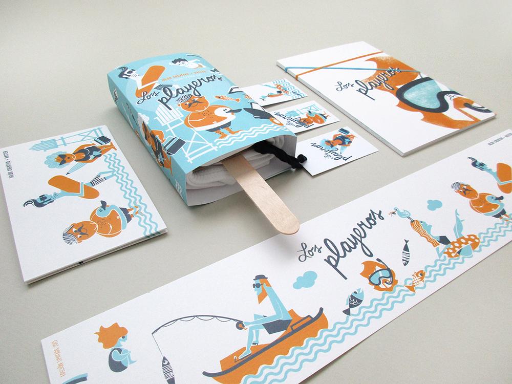 Los Playeros, ilustración y packaging de Iglöo Creativo