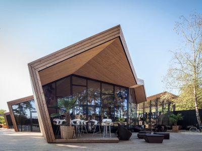 Boos Beach Club, el restaurante inspirado en el origami, Metaform architects, Luxemburgo, 2016, © Steve Troes Fotodesign