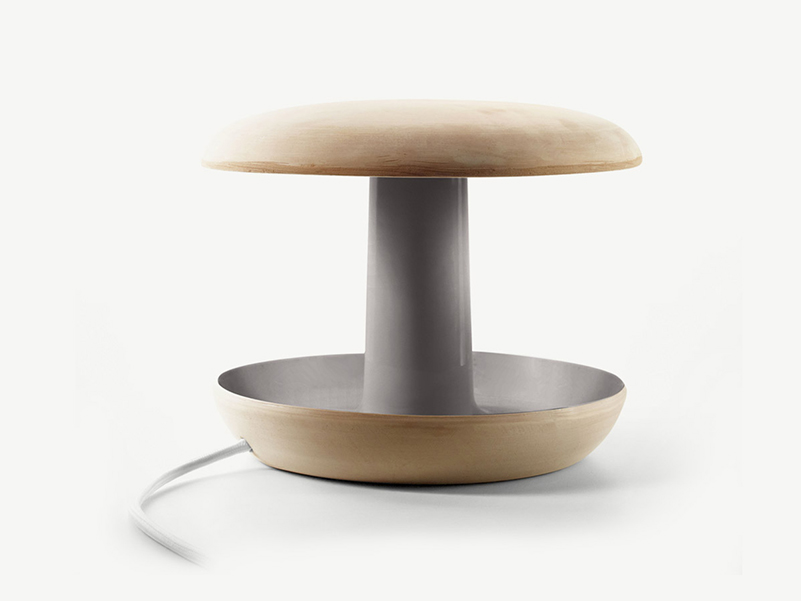 Onddo, lámpara de terracota de Iratzoki Lizaso Design Studio