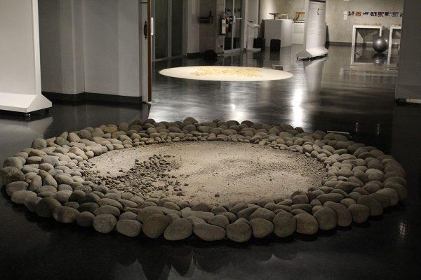 """Rafael Ottón Solís. """"Batambal delta del Diquís"""" 2016. Foto cortesía del Museo del Jade."""